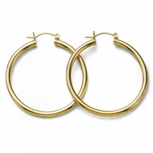 42MM Euro Hoop Tubular Earrings at www.SunshineJewelry.com