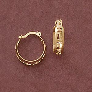 Greek Key Earrings at www.SunshineJewelry.com