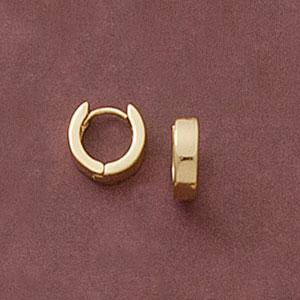 Plain Huggie Earrings at www.SunshineJewelry.com