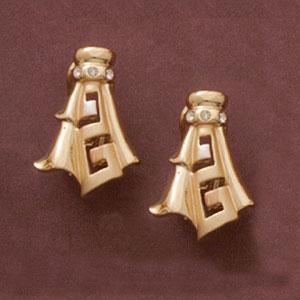 Aphrodite Greek Key Earrings at www.SunshineJewelry.com