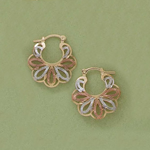 Tri-Color Blossom Earrings