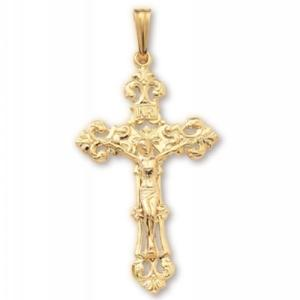 Puffed Ornate Crucifix at www.SunshineJewelry.com