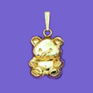 Puffed Cuddly Teddybear Charm at www.SunshineJewelry.com