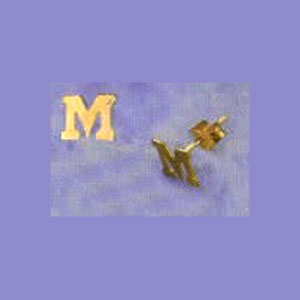 14K Gold Personalized Post Earrings at www.SunshineJewelry.com